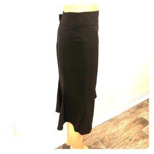 Armani Collezioni brown virgin wool midi skirt